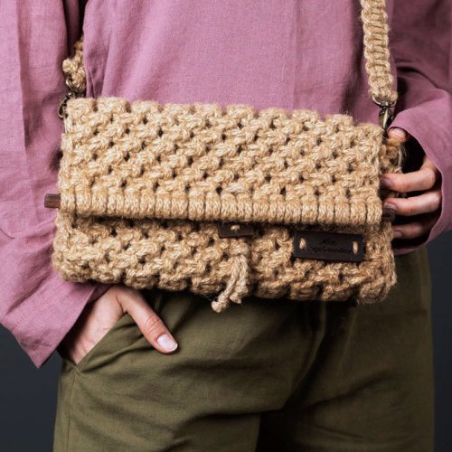 Meliscka Clutch | Hand Woven | Utility Laptop Bag