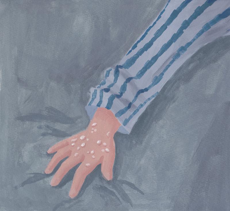 パジャマ 手
