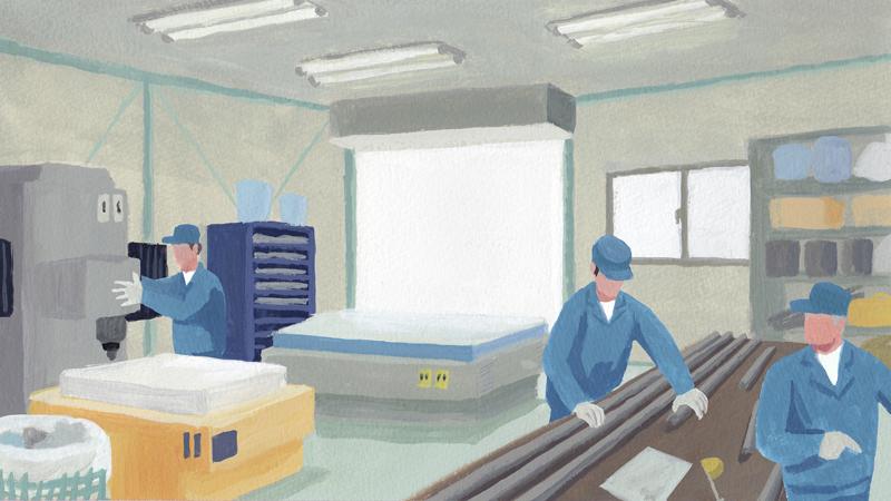 町工場 従業員 男性