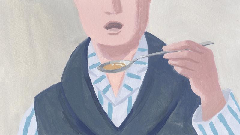 食事 男性