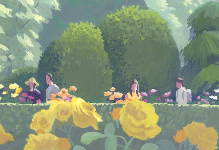 公園 バラ
