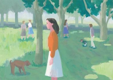 公園 女性