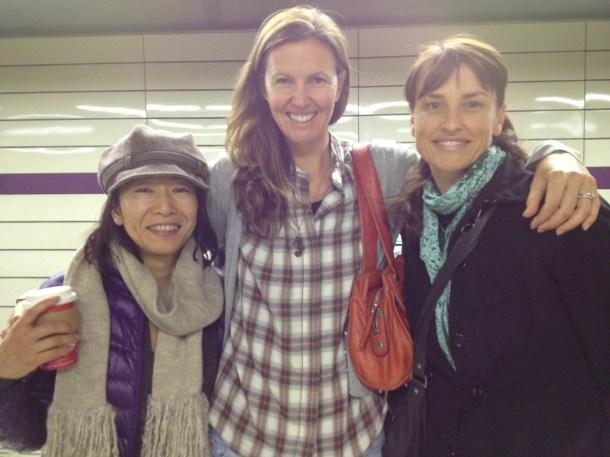 渋谷駅のホームでアンヌ先生とバトンタッチ☆スーパー銭湯で3人のナチュロパス、水入らずの時間を過ごしにいかれました^^