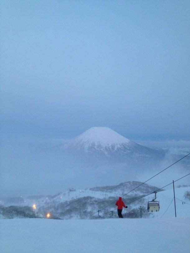 蝦夷富士を拝めました。