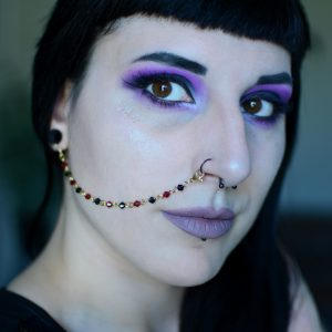 Ayame Designs handcrafted gold beaded nose to ear chain