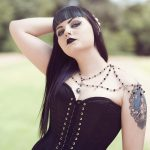 Ayame Designs handcrafted gothic bridal shoulder necklace