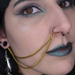 Ayame Designs handcrafted gold nose to ear chain