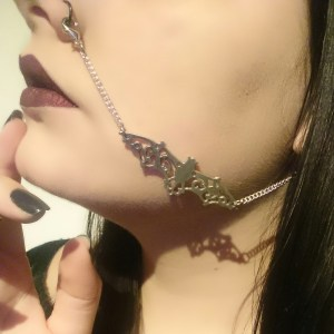 Ayame Designs handcrafted bat nose to ear chain