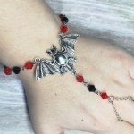 Ayame Designs handcrafted stainless steel bat hand bracelet