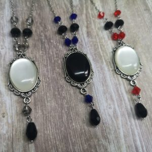 Ayame Designs handcrafted gothic cameo necklace