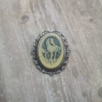 Ayame Designs unicorn cameo brooch