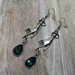 Ayame Designs handcrafted elegant gothic hand earrings