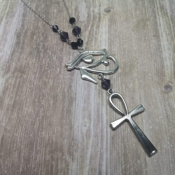 Ayame Designs handcrafted gothic Egyptian necklace