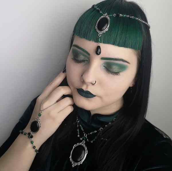 Ayame Designs handcrafted gothic beaded jewellery set