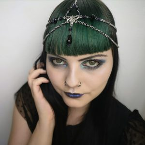 Ayame Designs handcrafted beaded fantasy circlet / head chain