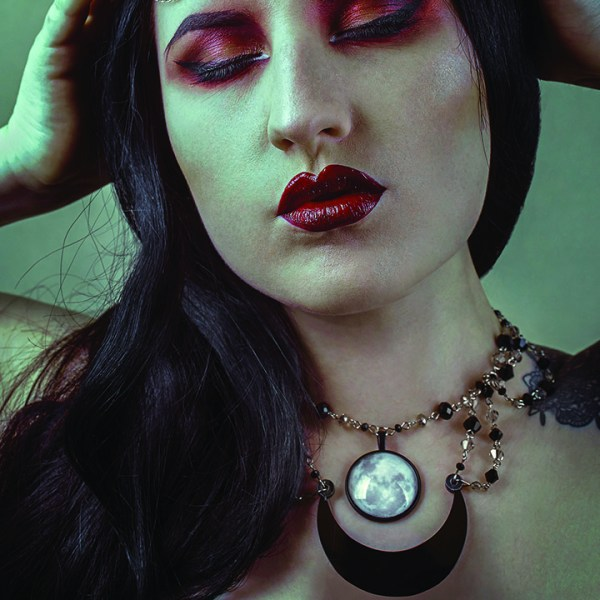 Ayame Designs handcrafted gothic moon choker necklace