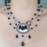 Ayame Designs handcrafted gothic bat choker necklace