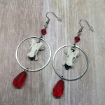 Ayame Designs handcrafted ethically sourced bone earrings