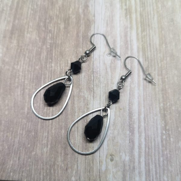 Ayame Designs handcrafted gothic teardrop earrings