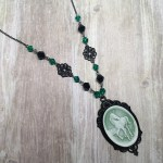 Ayame Designs handcrafted gothic beaded necklace