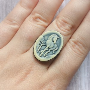 Ayame Designs stainless steel unicorn adjustable ring