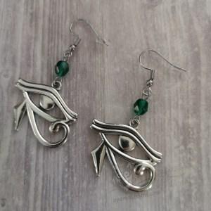 Ayame Designs handcrafted Egyptian Eye of Horus earrings