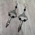 Ayame Designs handcrafted gothic pen earrings