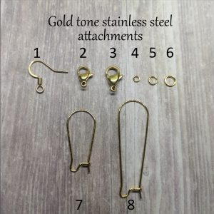 gold stainless steel earring attachments