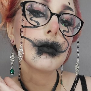 Ayame Designs handcrafted gothic glasses chain
