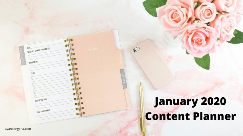 JANUARY 2020 CONTENT PLANNER