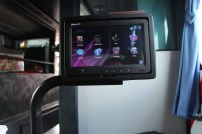 Entertainment system at Nice bus