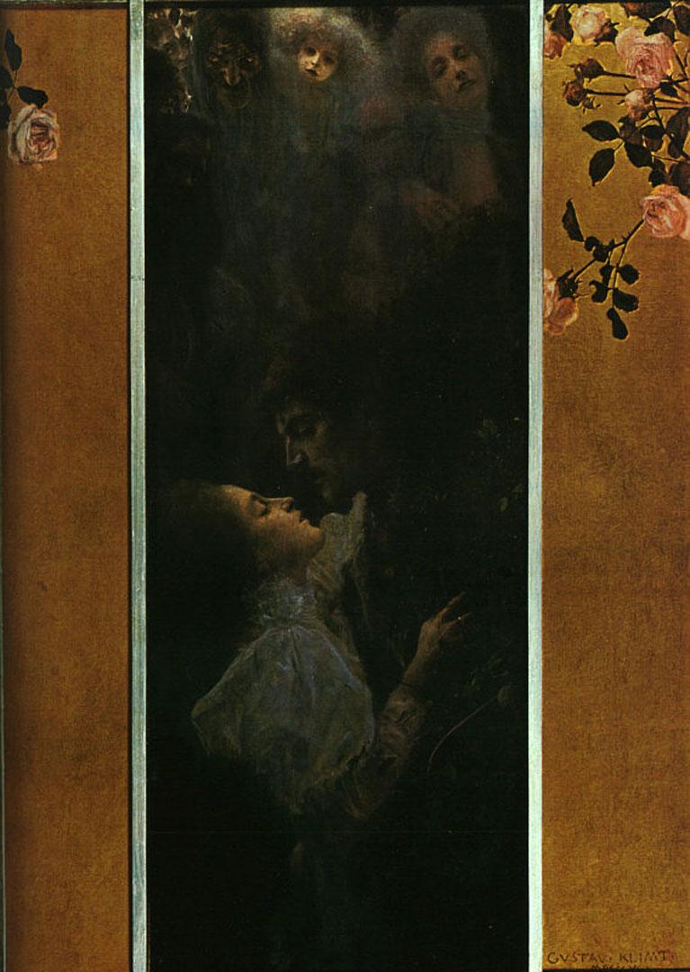 1895 Love Gustav Klimt Wallpaper Image