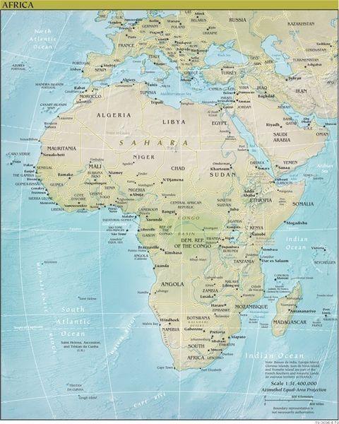 アフリカ 地図(3)地理