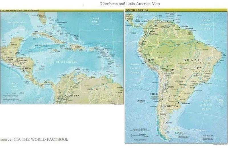 ラテンアメリカ地図(地理)