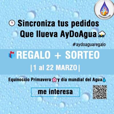 Sincroniza tus pedidos marzo dia mundial agua 2021 equinoccio primavera aydoagua