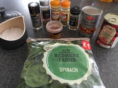 Ingredients for Chana Saag