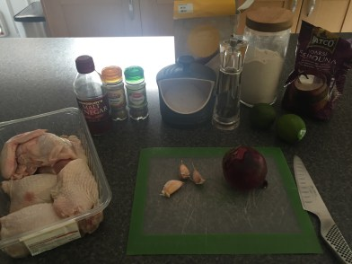Ingredients for Pica Pollo (fried chicken)