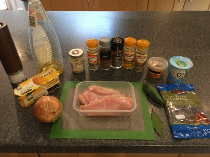 Ingredients for Chicken Lahori curry