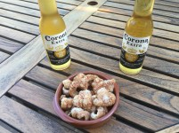 Chicharrones served with ice cold beer