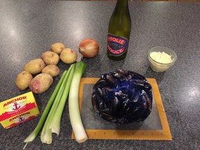 Ingredients for Moules Frites