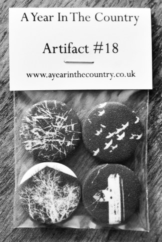 Artifact 18-front of fabric badge set-A Year In The Country