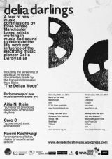 Delia Derbyshire-A Year In The Country-delia-darlings-tour-posterleaflet