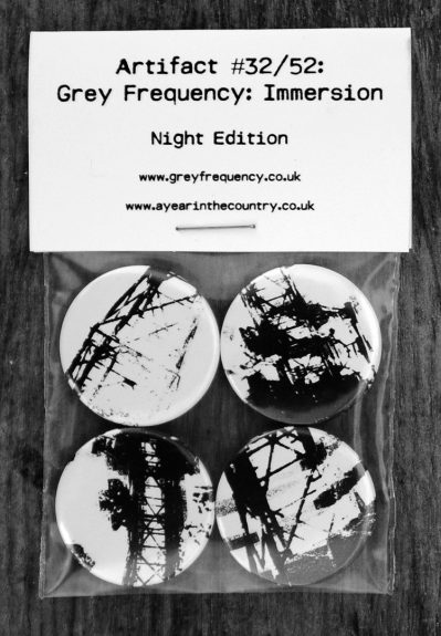 Grey Frequency-Immersion-Night Edition-A Year In The Country-8 badge pack