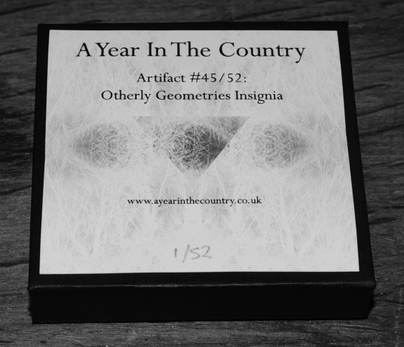 Artifact 45-Other Geometries Insignia-badges-closed box-A Year In The Country