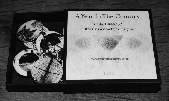 Artifact 45-Other Geometries Insignia-badges-open box-A Year In The Country
