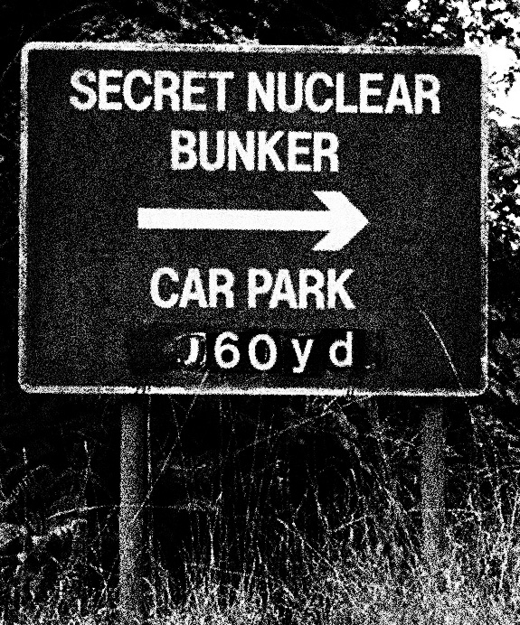 The Quietened Bunker-secret bunker tourist road signs-A Year In The Country-3 copy