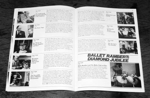 NFT-1986 festival brochure-Fantastic Television-Quatermass-The Stone Tape-The Avengers