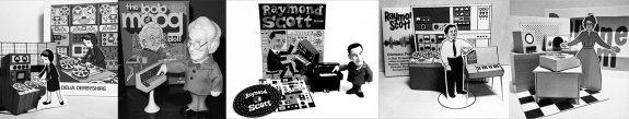 Delia-Derbyshire-Bob Moog-Raymond Scott-Daphne Oram-Press Pop figure-Heykidsrocknroll diorama-b