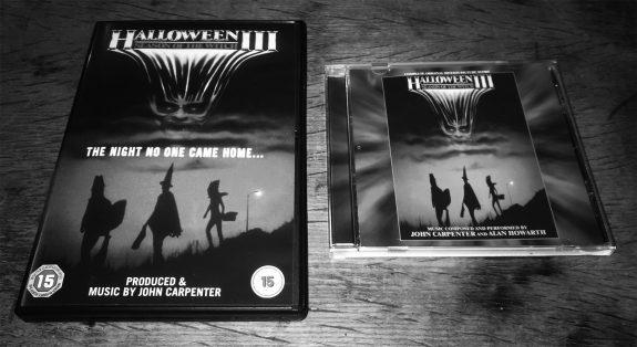 Halloween III-complete soundtrack-John Carpenter-Alan Howarth-and DVD cover