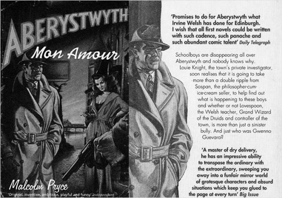 Aberystwyth Mon Amour-Malcolm Pryce-book front and back cover